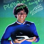 Los botines de Diego Maradona. La marca de su guante